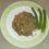 Riso rosso con crema agli asparagi